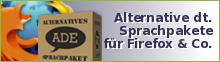 Alternative Sprachpakete für Firefox